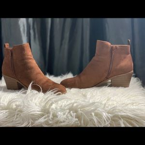 Forever 21 ankle boots tan